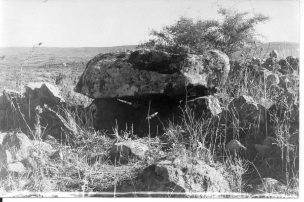 דולמן בקרבת הכביש העולה לקיבוץ שמיר שבגליל העליון, פיקיוויקי - מאגר התמונות של ישראל