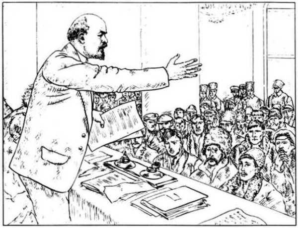 Boris Mikhaylovich Kustodiev, לנין מנהיג הממשלה