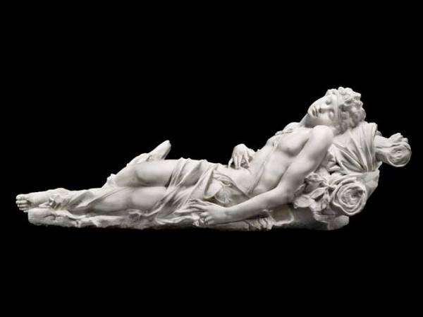 Antonio Corradini, אנדימיון, 1725. שיש בגודל טבעי,  Via ArtsLife