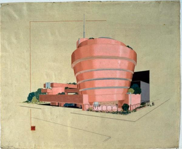 פרנק לויד רייט, מתוך אוסף התוכניות למוזאון גוגנהיים לאמנות בניו יורק