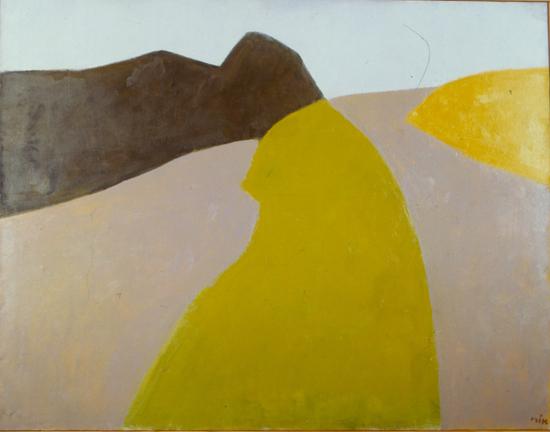 אוֹרי רייזמן, נוף עמק הירדן, 1967-1977. שמן על בד, אוסף פרטי