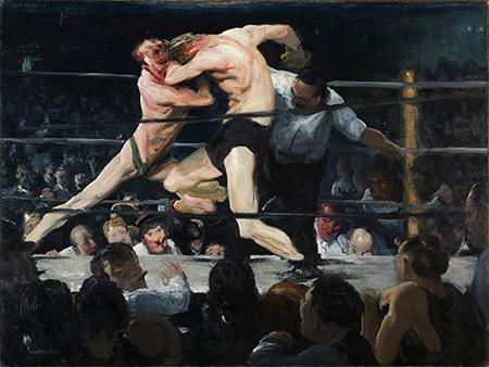 George Bellows, זירת האיגרוף אצל שארקי, 1900. Via The Smart Set