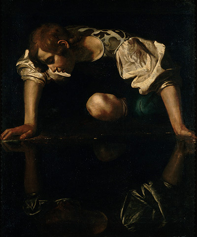 Galleria Nazionale d'Arte Antica, Rome, 1598-99 Narcissus Oil on canvas, 110 x 92 cm