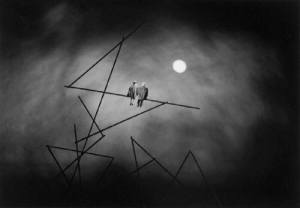 Gilbert Garcin, נוקטורן, צלום בעקבות פול קלי, 2004, via Stephen Bulger Gallery