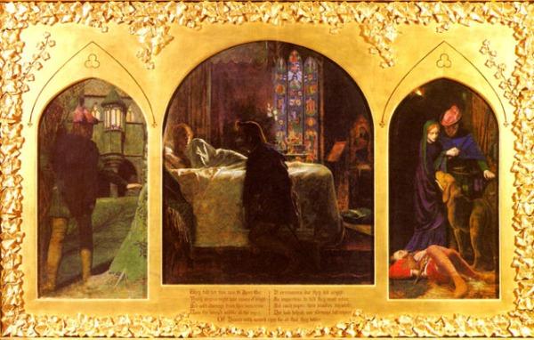 Arthur Huges, ליל סנט אגנס, 1856. שמן על בד, מוזאון טייט, לונדון
