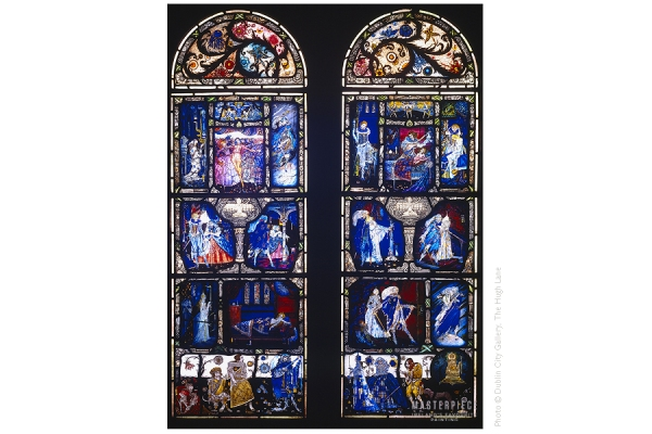 Harry Clarke (Dublin 1889-1931 Zurich), The Eve of St. Agnes, 1924. Stained Glass, Dublin City Gallery