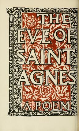 Ralph Fletcher Seymour, איורים,  Edmund Gosse הקדמה, ליל סנט אגנס, 1900