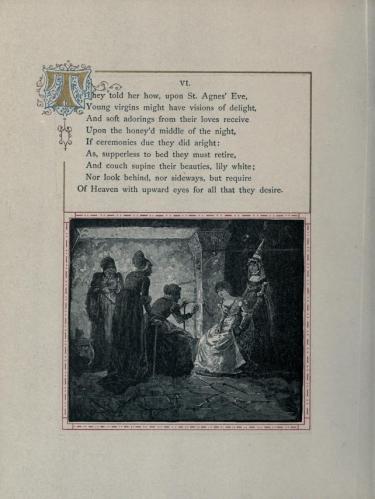הרבו הן-צדק לדברThe Eve of St. Agnes, by Charles E. Wentworth, Cambridge University Press, 1885