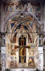 פיירו דלה פרנצ'סקה, אגדת הצלב האמתי, סדרת ציורי פרסקו, הושלמה ב-1464. מבט כללי, קפלה מג'ורה, כנסית סאן פרנצ'סקו, ארצו, איטליה