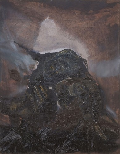 ליאת יוסיפור, דמעה, 2007. שמן על לוח, via Angeles Gallery