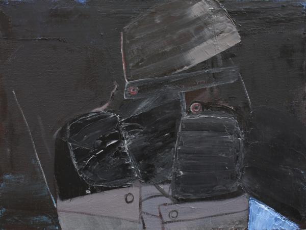 ליאת יוסיפור, שלוש דמויות, 2010. שמן על בד, via Angeles Gallery