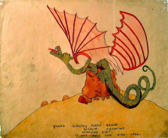 הנרי דארג'ר, בלנגין משונה בעל כרס ארגמנית, מחצית המאה ה-20