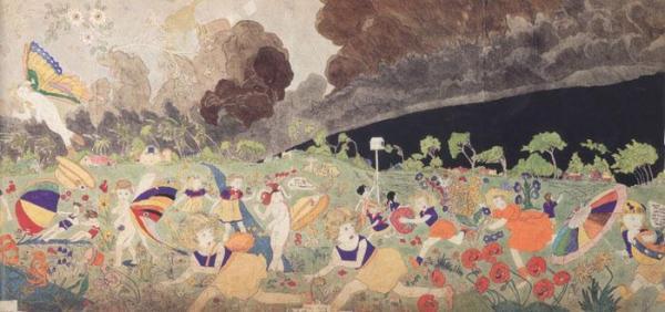 הנרי דארג'ר, סופה מתקרבת, מחצית המאה ה-20.  American Folk Art Museum, New York