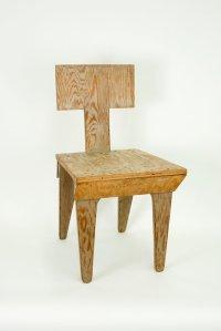 """נתן לרנר, """"כסא בקופסא"""", 1947. עץ לביד וצבע, אוסף San Francisco Museum of Modern Art"""