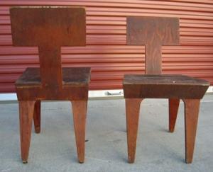 שני כסאות של לרנר, גרסה מרופדת, Via eBAY