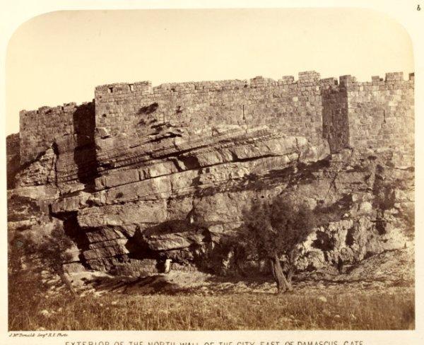 "Charles W. Wilson, ""ירושלים מחוץ לחומה הצפונית"", 1865.  Via The Center for Online Judaic Studies, COJS"