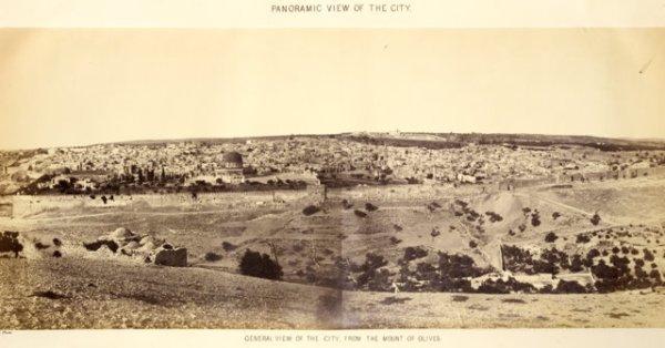 Charles W. Wilson, מבט כללי על ירושלים, 1865.  Via The Center for Online Judaic Studies COJS)