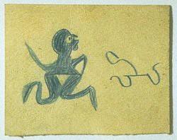 ביל טריילור, ללא כותרת (איש כחול), בין השנים 1939-1942.  Via Riffe Gallery, Ohio