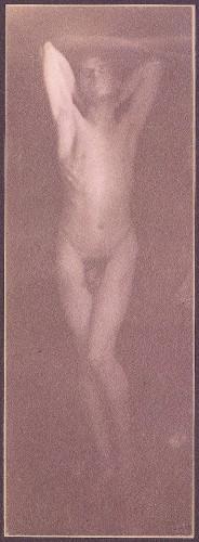 "F. Holland Day, צילום הכנה ל""הצליבה"", 1898. הדפס פלטינה,  The Metropolitan Museum of Art, NYC"
