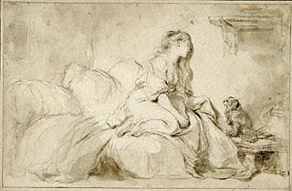 """Jean-Honoré Fragonard, """"הו! אילו רק הוא היה נאמן לי כמוך"""", 1770-1771. פחם, מכחול וצפוי שחום,The Getty Museum, Los Angeles  ספור חייו של צייר הרוקוקו הצרפתי ז'אן אונורה פרגונאר הוא משל לסכנות הטמונות בקונפורמיזם הסתגלני. מדובר באמן כוכב בשמי צרפת האבסולוטיסטית, שעיסוקו שכלול וצחצוח הקליעה לטעם האצולה השלטת, זאת עד שבאה המהפכה וריסקה את עולמו וטעמו עמו. הוא נשכח לחלוטין בתוך זמן קצר והיה אביון גמור במותו. להפך מהאמור בקלישאה הידועה, לעתים קרובות אנו למדים מההיסטוריה כי דין השיירה להעצר, להתהפך ולהתפזר לכל עבר."""