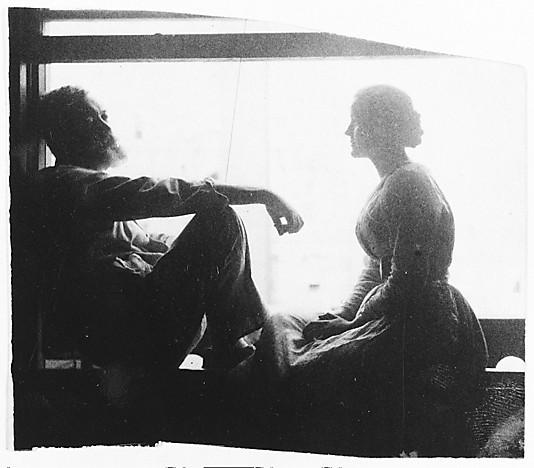 Thomas Eakins, [הפסל] ויליאם או'דונובן ואלמונית, שנות ה-1880. The Metropolitan Museum of Art, NYC