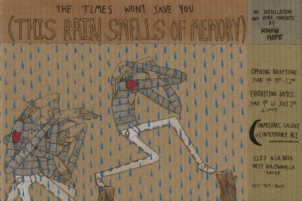 Know Hope, לגשם הזה יש ריח של זכרון, 2009.  Via Artis