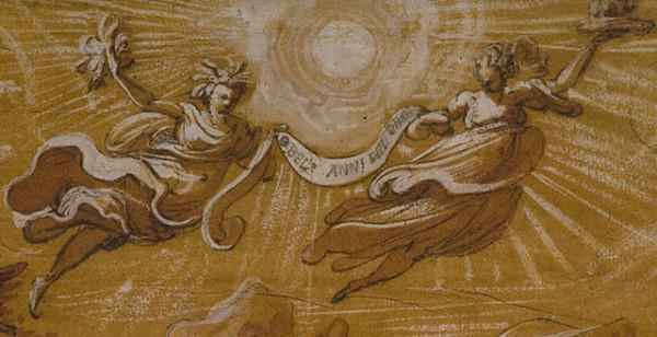 "Jacopo Zucchi, ""תור הזהב"" (O Belli Anni Del Oro) (פרט), 1565.  The Getty Museum, Los Angeles"