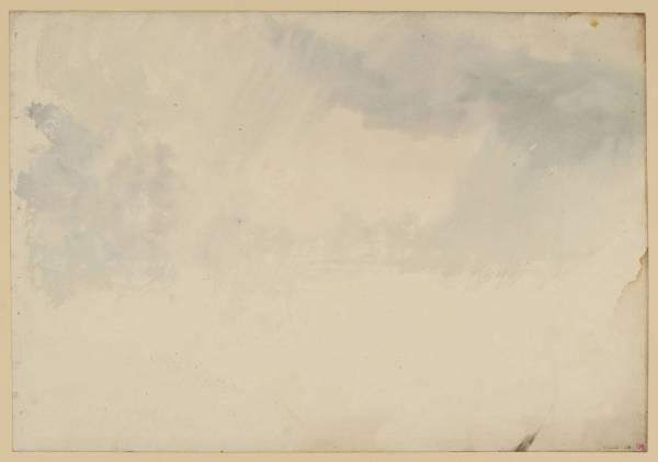 """ג'וזף מאלורד ויליאם טרנר, """"שמים"""", בין השנים 1820-30. צבעי מים על נייר,  Tate Britain, London"""