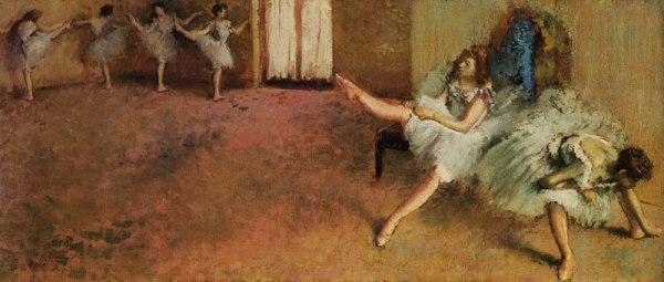 אדגר דגא, לפני הבלט, 1888. שמן על בד,  National Gallery of Art, Washington