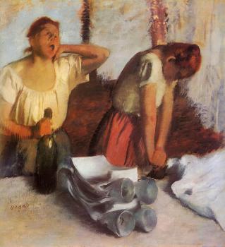 אדגר דגא, כובסות מגהצות, שמן על בד,  Norton Simon Museum, Pasadena, CA, USA