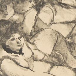 """אדגר דגא, """"בסלון"""", בסביבות 1879. העתק נאמן למקור של מונוטייפ,  The Metropolitan Museum of Art, New York"""