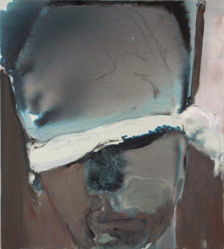Marlene Dumas, אדם כסוי עיניים, 2007. שמן על בד,  via David Zwirner Gallery, London
