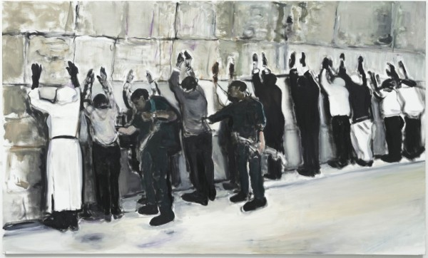 Marlene Dumas, Wall Wailing, 2009. Oil on Linen, via David Zwirner Gallery, London