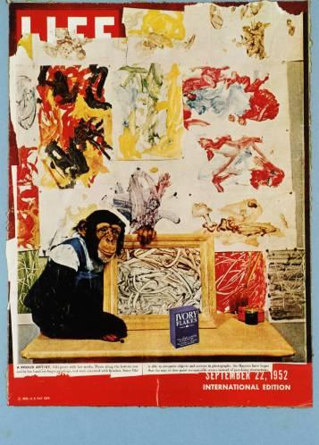 """Eduardo Paolozzi, """"הדינמיקה הביולוגית"""", מהסדרה BUNK, 1972. הדפס רשת וליתוגרפיה על נייר,  Tate Britain, London"""