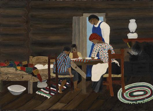 Horace Pippin, הודייה, 1942. שמן על בד,  The Barnes Foundation, Philadelphia