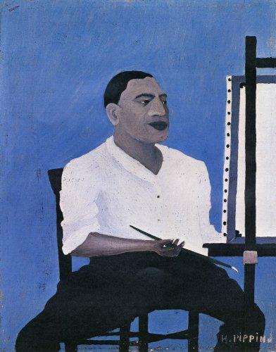 Horace Pippin, דיוקן עצמי, 1941. שמן על בד מודבק על קרטון,  Albright-Knox Art Gallery, Buffalo