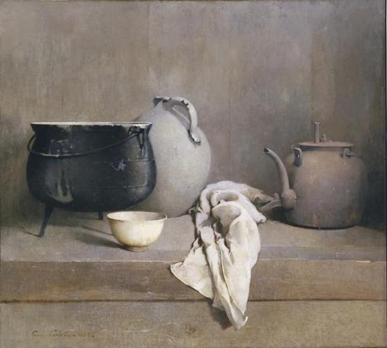 Emil Carlsen, תרגיל באפור, 1906. שמן על בד,  Dallas Museum of Art