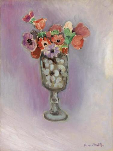 Henri Matisse, זר כלניות, 1918. צבע שמן על בד,  The Barnes Foundation, Philadelphia