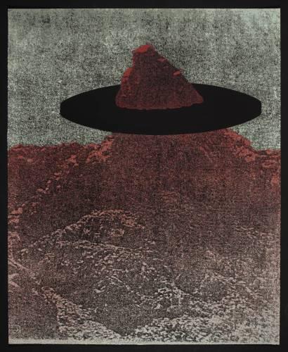 מנשה קדישמן, הר ב', 1974. הדפס רשת על נייר,  Tate Gallery, London