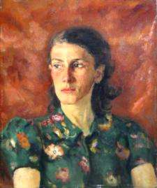 Baruch Lopes de Leao Laguna (1864-1943), דיוקנה של טינה סטרובוס, 1943. שמן על בד, ברשות קרוליין סטרובוס,  via Thomas Cool`s blog