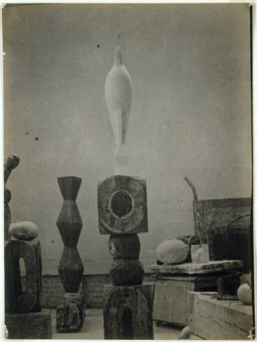View of the Studio with Maïastra, 1917 by Constantin Brancusi. Via The Red List