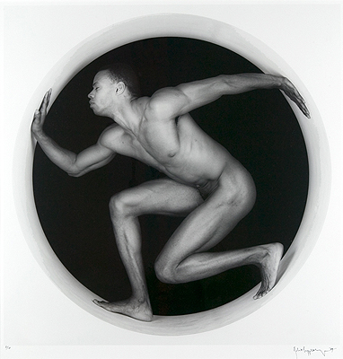 Robert Mapplethorpe, Thomas in a Circle, 1987. Via Arden and Asnstruther Gallery, West Sussex
