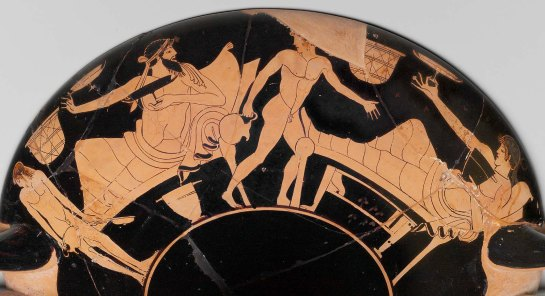 scenes from a symposium on Kylix, by the Foundry Painter, 480 BC. MFA, Boston