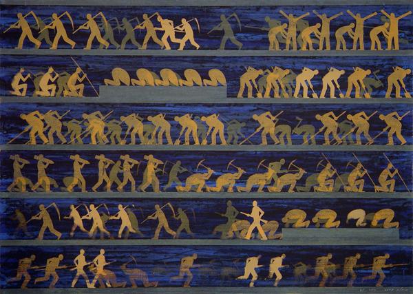 אברהם אילת, ללא כותרת, דיו על ניר, 2009, Via Galerie 21, Köln 1