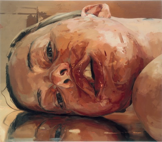 Jenny Saville, Reverse, 2002-03. Oil-canvas, Gagosian Gallery, NYC