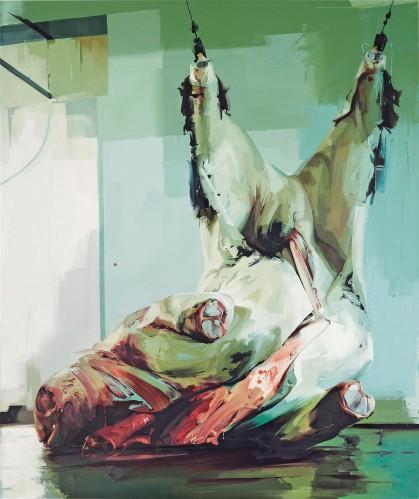 Jenny Saville, Torso II, 2004-05. Oil-canvas, Gagosian Gallery, NYC