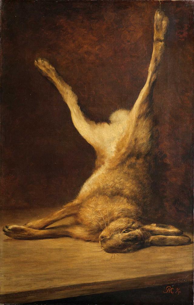 Piet Mondrian, Dead hare, 1891. Oil-canvas, Gemeente Museum, De Haag