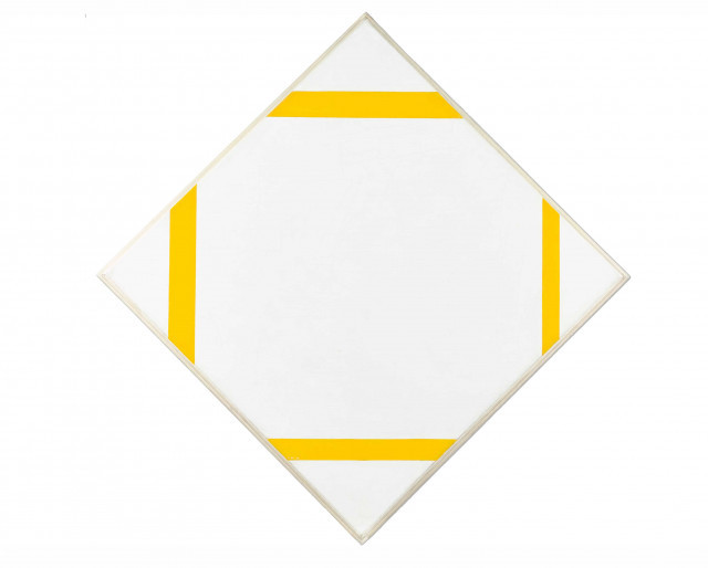 Piet Mondrian, Lozenge composition with yellow lines, 1933. Oil-canvas, Gemeente Museum, De Haag