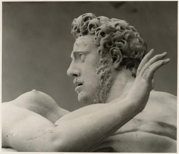 David Finn, photograph of, Giambologna. Detail, The Rape of a Sabine. 1581-82. Loggia dei Lanzi, Florence, about 1960s–1990s. Getty Center, Los Angeles, Calif.