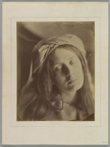 Julia Margaret Cameron, Beatrice, 1866. Albumen silver print from glass negative, Metropolitan Museum of Art, New York City